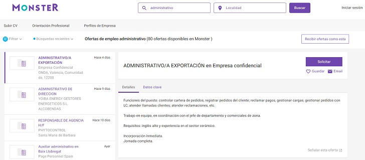 ofertas empleo monster